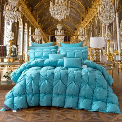 羽绒被 被芯 被子 冬被 羽绒枕芯 枕芯枕头  羽绒床垫 床垫 150*200cm 天蓝