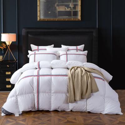 羽绒被 被芯 被子 冬被 羽绒枕芯 枕芯枕头  羽绒床垫 床垫 150*200cm 白色(条纹)
