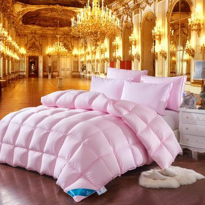 羽绒被 被芯 被子 冬被 羽绒枕芯 枕芯枕头  羽绒床垫 床垫 150*200cm 粉色