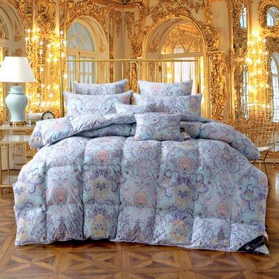 羽绒被 被芯 被子 冬被 羽绒枕芯 枕芯枕头   羽绒床垫 床垫 150*200cm 米兰风情95白鹅绒被