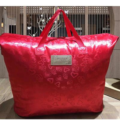(总)2018新款-出口日本集花鹅绒被  被子被芯 220x240cm3.6斤 爱心红皮包
