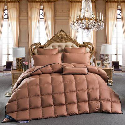 羽绒被  鹅绒被 羽绒枕 羽绒床垫 出口欧美原单高端正品  咖色款 淘宝爆款