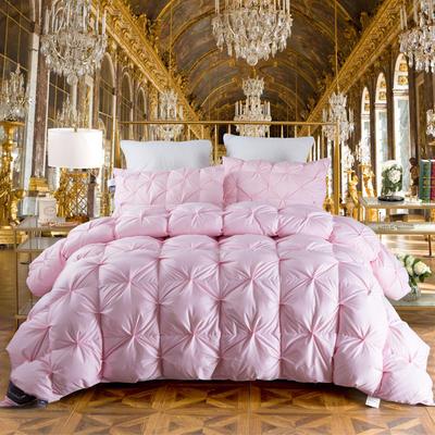 2018新款-法式面包鹅绒被 150x200cm5.4斤 粉色