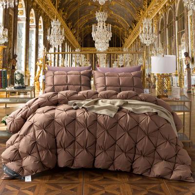 2018新款-法式面包鹅绒被 150x200cm5.4斤 咖色