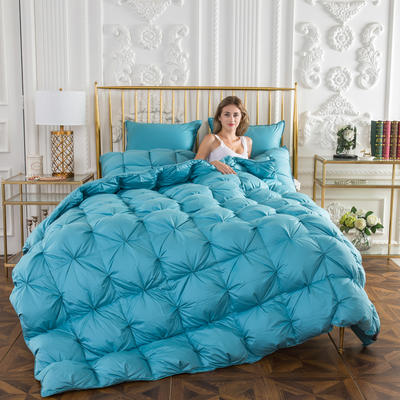 2018新款-法式面包鹅绒被 150x200cm5.4斤 天蓝