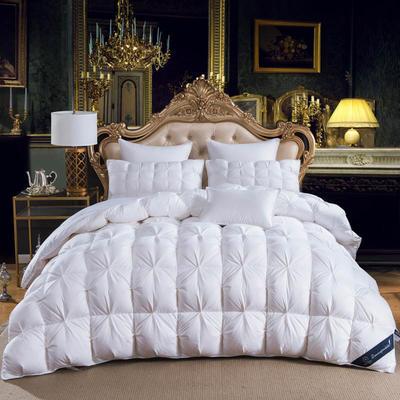 羽绒被  鹅绒被  羽绒枕  羽绒床垫 被 枕 垫 子芯 立体扭花被 180x220cm7斤 手提袋