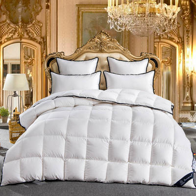 羽绒被  鹅绒被 羽绒枕 羽绒床垫 出口欧美 爆款+视频 150x200cm5斤 白色