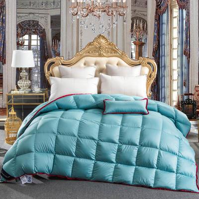 羽绒被  鹅绒被 羽绒枕 羽绒床垫 出口欧美 爆款+视频 200X230cm7斤 冰蓝