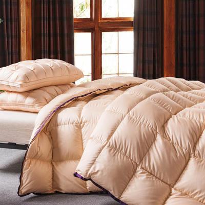 羽绒被  鹅绒被 羽绒枕 羽绒床垫 出口欧美 爆款+视频 200X230cm7斤 金色