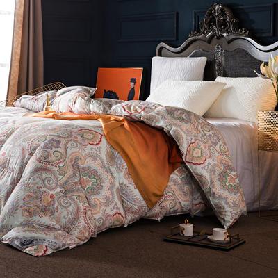 羽绒被 鹅绒被  羽绒枕 羽绒床垫 被 芯 子 垫-日本工艺100支棉印花 180x220cm7斤 色彩斑斓