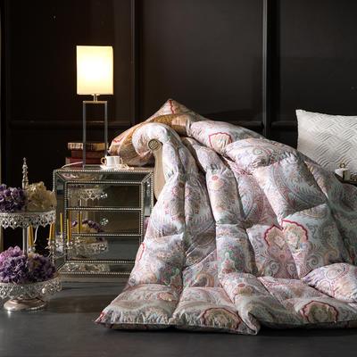 羽绒被 鹅绒被  羽绒枕 羽绒床垫 被 芯 子 垫-日本工艺100支棉印花 180x220cm7斤 手提袋