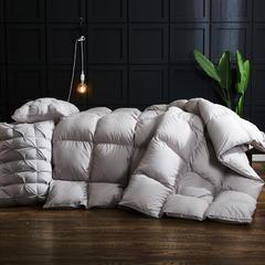 羽绒被 鹅绒被 羽绒枕 羽绒床垫 被 子 芯 垫  出口日本100支缎条白鹅绒被 200X230cm7斤 红爱心皮革包