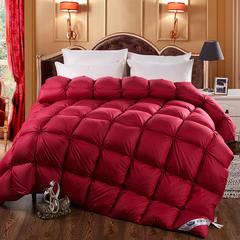 羽绒被 鹅绒被 羽绒枕芯 枕芯 羽绒床垫  冬被- 出口日本外观专利款 220x240cm8斤 红色