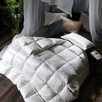 羽绒被 鹅绒被  羽绒枕  羽绒床垫  真丝锁绒绸大提花白鹅绒被被子被芯