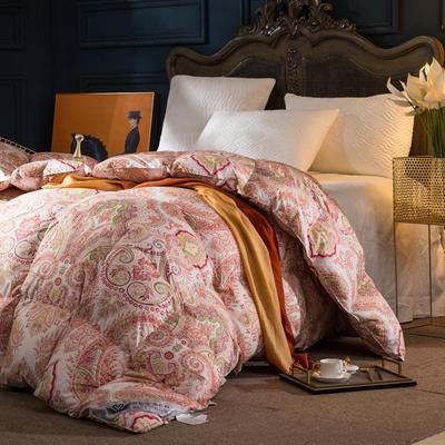 羽绒被 鹅绒被  羽绒枕 羽绒床垫 被 芯 子 垫-日本工艺100支棉印花 180x220cm7斤 万紫千红