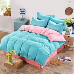 缘自淘家纺 简约时尚纯色床上四件套 被套枕套床单式三件套四件套床品套件 1.0m(3.3英尺)床 墨绿玉