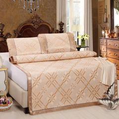 缘自淘家纺 夏凉冰丝席套件 宽边冰丝席二三件套 1.2m(4英尺)床 格律金