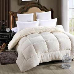 缘自淘家纺 秋冬加厚保暖羊羔绒被子被芯 110*150cm/3斤 羊羔绒白色