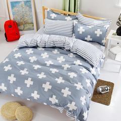 缘自淘家纺 时尚印花床上四件套 被套枕套床单式三件套四件套床品套件 1.0m(3.3英尺)床 维纳斯