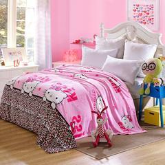 缘自淘家纺 加厚保暖法兰绒床单毯毛毯床单单件 120x200cm 法莱猫咪