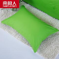 2018新款-缘自淘全棉纯色单品枕套纯棉枕芯套子 48cmX74cm/一对 纯绿色