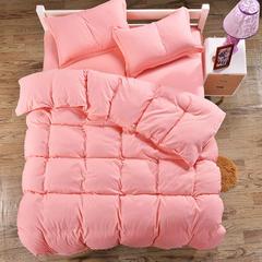 2018新款-缘自淘家纺床上用品网销4件套 床上用品家纺磨毛四件套 1.0m(3.3英尺)床 纯玉色花 (1)