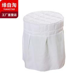 缘自淘家纺 美容床罩四件套单品凳套 通用款直径35cm高度45cm 凳套白色