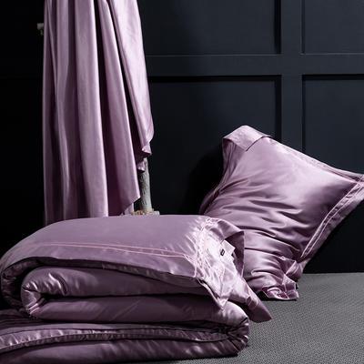 艾绒2019春夏新品 贡缎水洗真丝四件套 简约款 1.8m(6英尺)床 艾比特-丁香紫