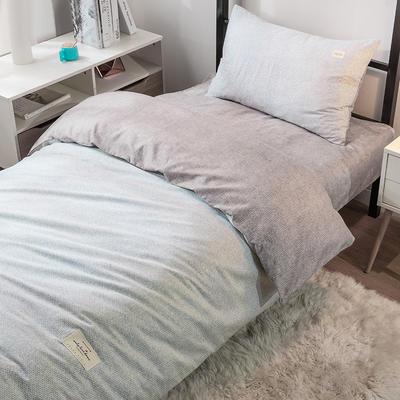 艾绒2019春夏新品 日式水洗全棉三件套 单人床 学生床 宿舍上下铺水洗棉三件套 0.9m(3英尺)床 伊丽