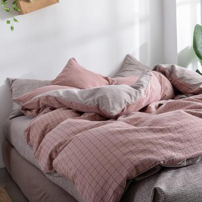 艾绒2019春夏新品 日式水洗全棉四件套 学生水洗棉三件套 枕套床单被套 1.0m(3.3英尺)床 枕套1对(花色备注)