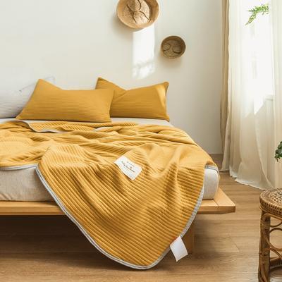 2019春夏新品 莫代尔针织空调被 夏被盖毯 150x200cm 芥末黄