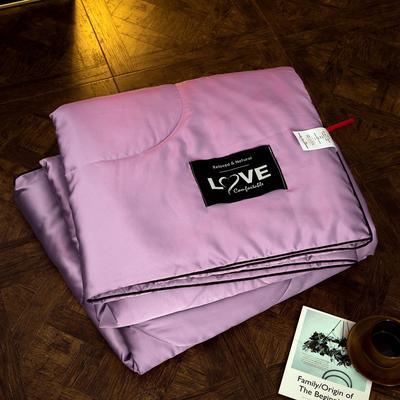 2019春夏新品 贡缎水洗真丝夏被 空调被 200X230cm 浅紫