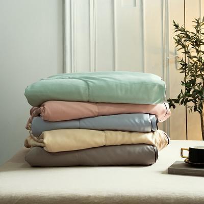 2019春夏新品 贡缎水洗真丝夏被 空调被 150x200cm 枕套一对 颜色随机