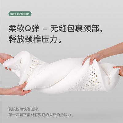 泰国天然乳胶枕头一对学生儿童单人枕成人家用枕芯护颈椎枕头带枕套 25*38cm 平面枕小飞机