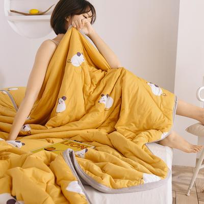 2020新型运动科技面料 针织棉夏被 印花款 180x200cm 小金鼠