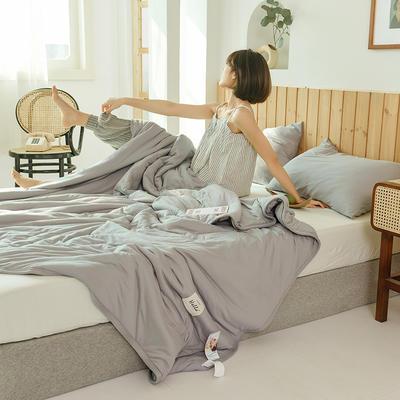 2020运动针织棉夏被 纯色款 夏被三件套 100x150cm 浅灰