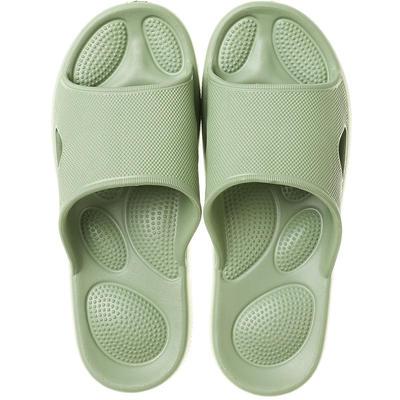 EVA夏季凉拖浴室抗菌防滑拖鞋按摩底 女鞋(37-38) 果绿