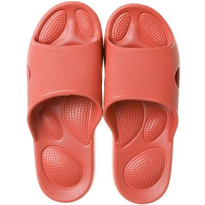 EVA夏季凉拖浴室抗菌防滑拖鞋按摩底 女鞋(37-38) 红棕