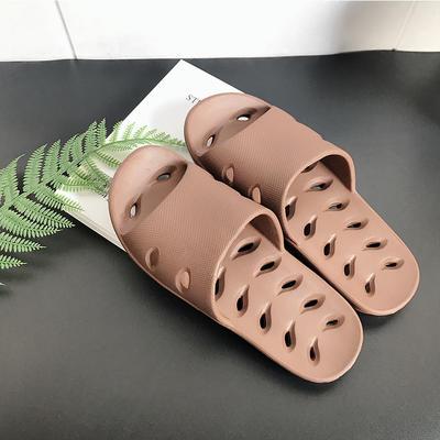 EVA夏季凉拖浴室抗菌防滑拖鞋 女鞋(37-38) 红棕