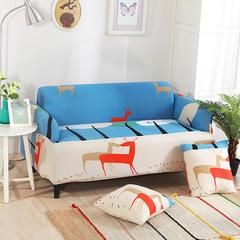 沙发套-8.29新花型 脚踏/茶几90*90cm 亲亲鹿