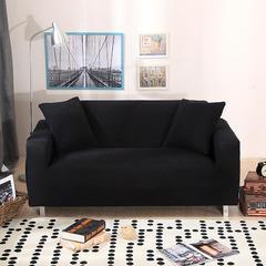 木木家纺 玉米绒沙发套 45*45cm抱枕套 玉米绒黑色
