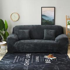 2018新款-绒款印花沙发套 抱枕套 (45*45) 毛绒深灰