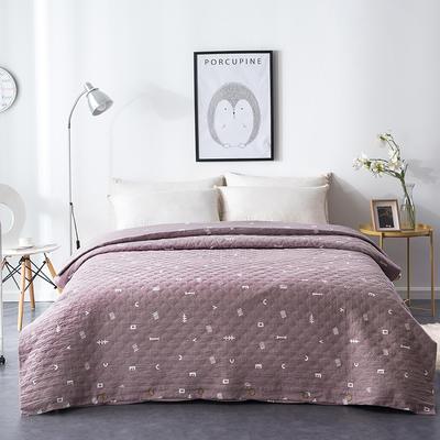 夹棉绗缝被套(床盖夏被)秋冬加厚保暖被罩 一件多用 180x220cm 简乐-豆沙