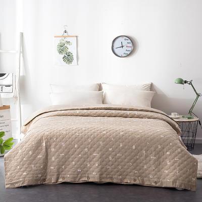 夹棉绗缝被套(床盖夏被)秋冬加厚保暖被罩 一件多用 150x200cm 简乐-咖