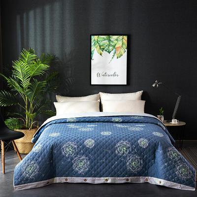 全棉绗绣夹棉绗缝夹棉被套(床盖夏被)秋冬加厚保暖被罩一件多用 180x220cm 蒲公英