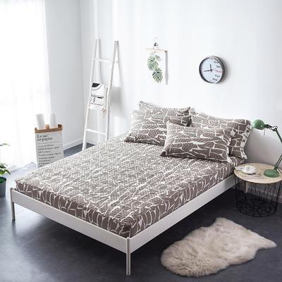 夹棉绗缝床笠秋冬加厚保暖床笠 120cmx200cm 格调-咖
