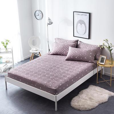 夹棉绗缝床笠秋冬加厚保暖床笠 150cmx200cm 简乐-豆沙