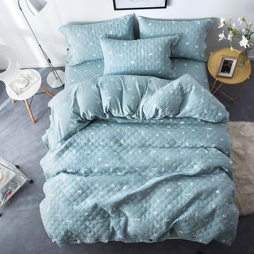 夹棉绗缝床笠秋冬加厚保暖四件套系列