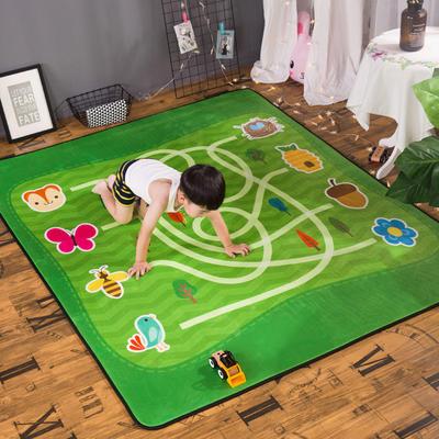 2018新款优悠生活地垫野餐垫爬爬垫防滑垫儿童垫 150*190cm 迷宫