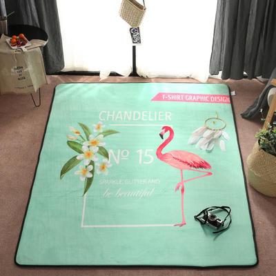 2018新款优悠生活地垫野餐垫爬爬垫防滑垫儿童垫 150*190cm 数字火鸟